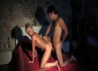 Sweaty incest fucking at night