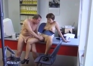 Hardcore incestuous sex at work