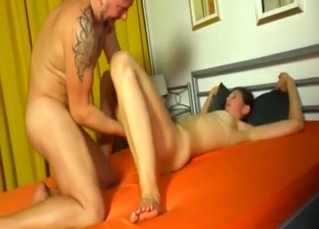 Tatted-up chick fucking her uncle