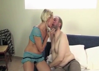 Blonde sucking on daddy's toes