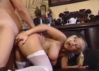 Blond-haired beauty ruined by daddy