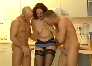 Mommy takes on her two hung sons