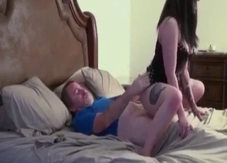 She loves incest cock-riding action