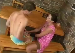 Mommy licked after sucking dick