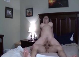 Mommy dearest fucks her hung son