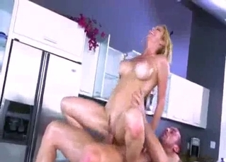 Big-breasted mom fucks her son