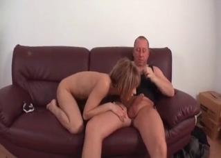 Slutty busty bitch drilled by daddy