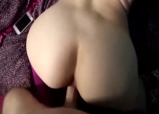 Big booty babe fucked hard from behind