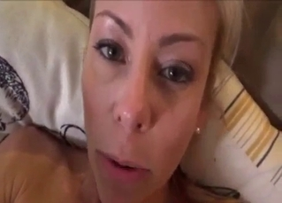 Busty tanned mommy fucked in POV