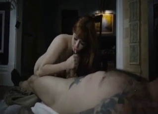 Seductive redhead wants her boy's cock