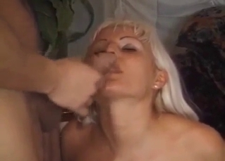 Blond-haired mommy wants that load