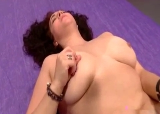 Fat bitch fucked hard on a big bed