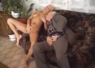 Tanned mommy fucks her son and her dad