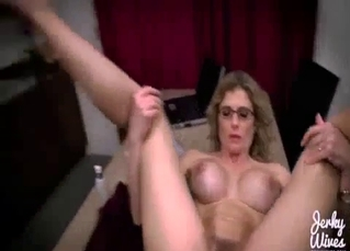 Timid and busty mommy fucked in POV