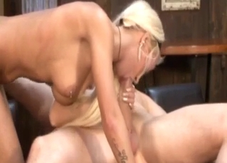 Blonde enjoying extreme oral here