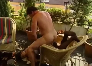 Extreme gape and brutal balcony sex