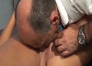 Kinky old dude molesting his daughter
