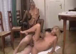 Skinny slut enjoying brutal fucking