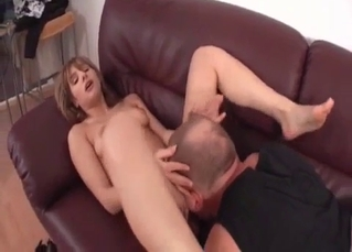 Blonde loves the way daddy licks