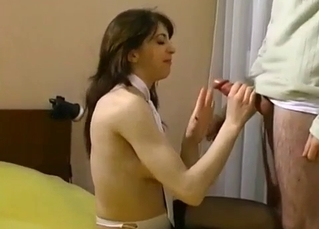 Extreme blowjob in an incest porn vid