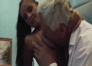 Dude molesting his granddaughter h ere