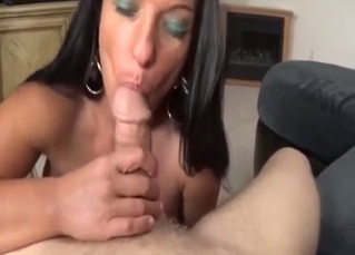 Big-breasted MILF showing how nasty she is