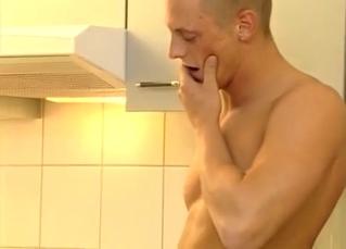 Kitchen incest threesome in HD