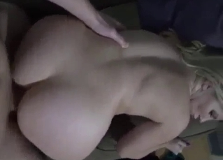 Mommy hungrily sucking it in POV
