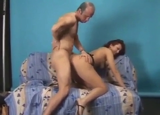 Doggy style fucking for his daughter
