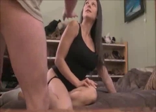 Brunette is obsessed with incest sex