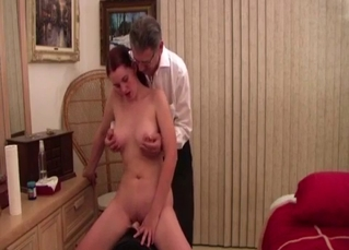 Mature sister pleasures her brother
