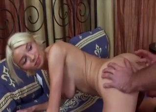 Blonde has to take it on all fours