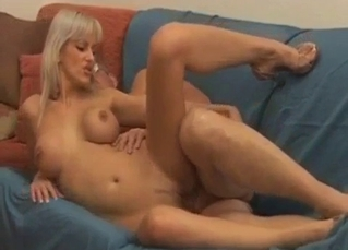 Blonde jumping on daddy's dick