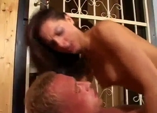 Brunette riding a thick fucking dick