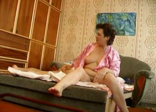 Chubby mommy riding her son's dick